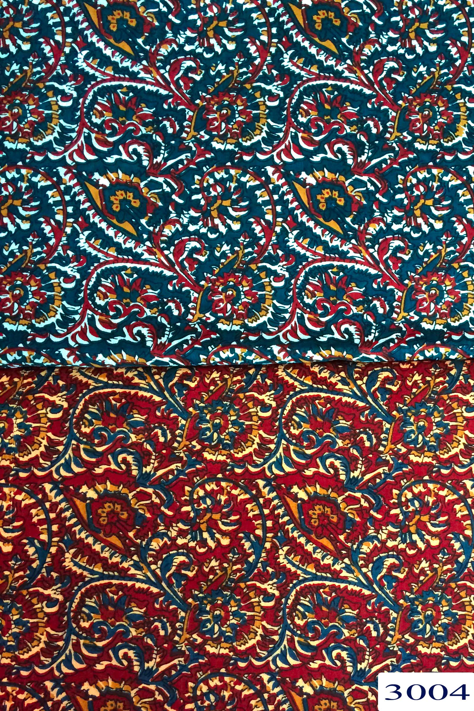 Kalamkari Printed Cotton 60x60 Fabric