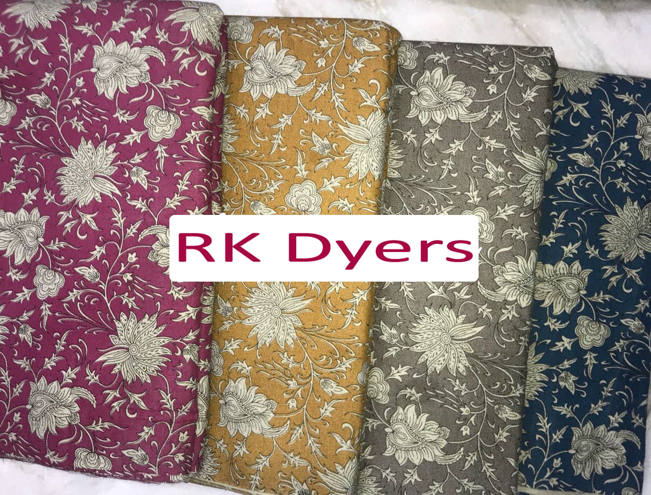 Flower Printed Cotton 40's Fabric
