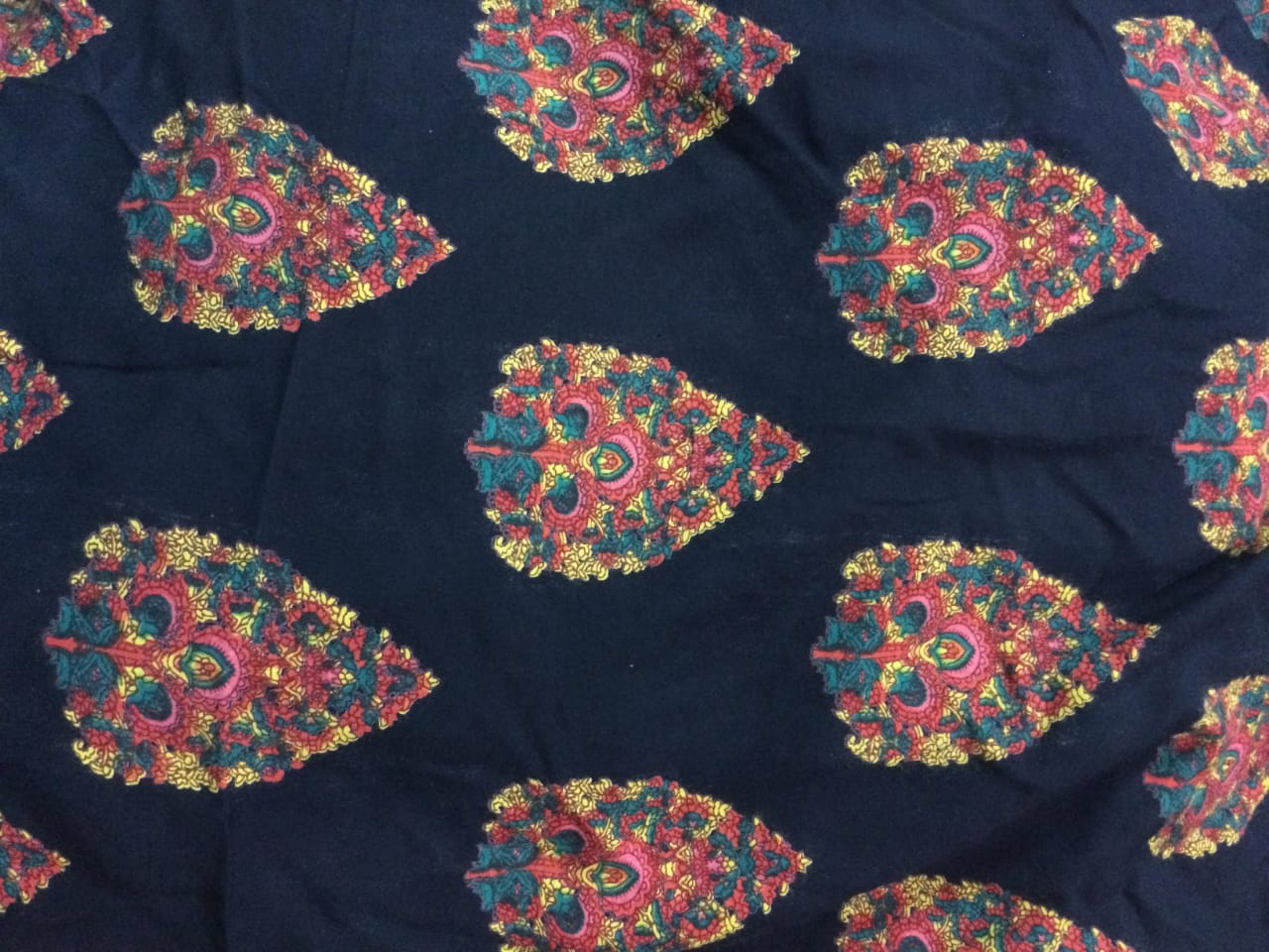 Flower Discharge Printed Rayon Fabric